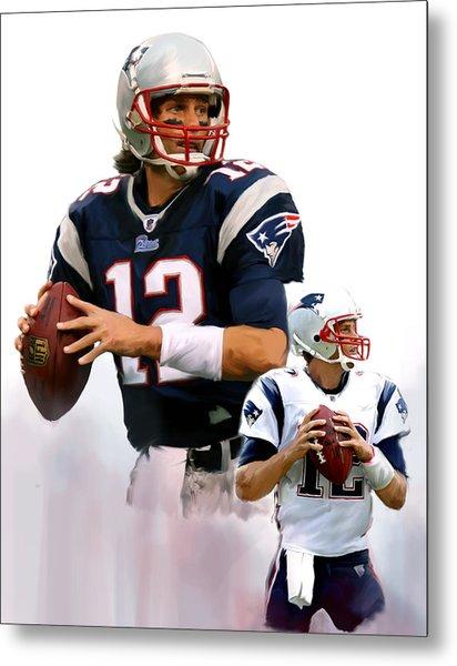 Brady II  Tom Brady Metal Print