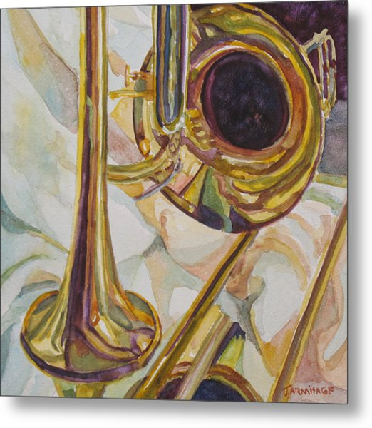 Brass At Rest Metal Print