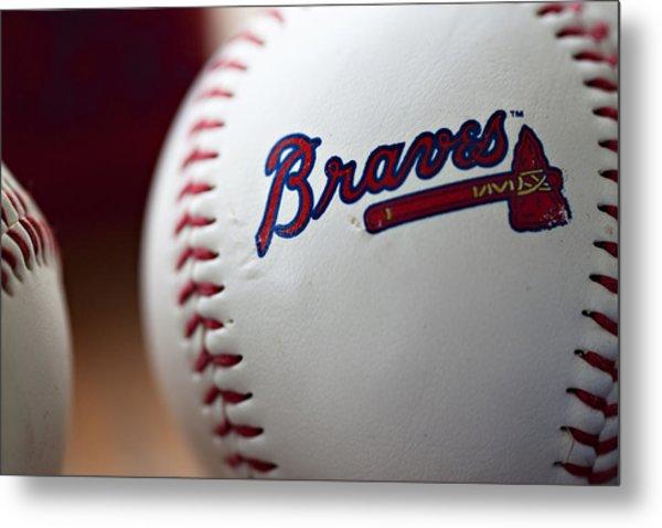 Braves Baseball Metal Print