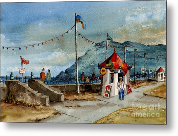 Bray Head And Prom Wicklow Metal Print