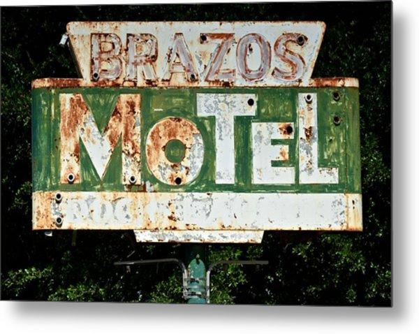 Brazos Motel Metal Print