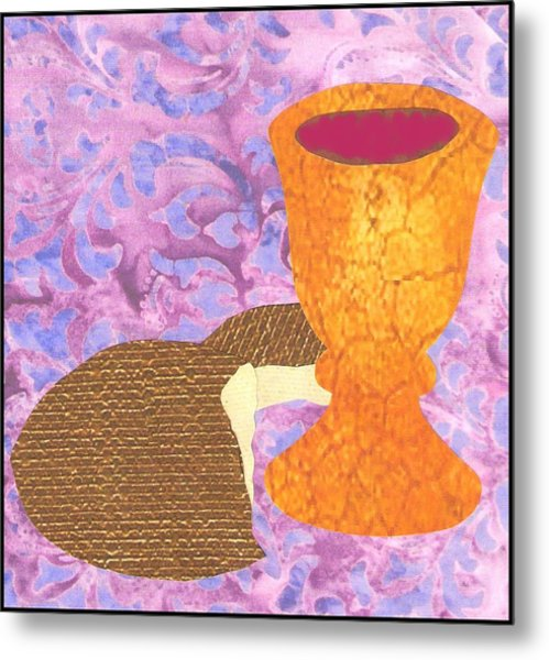 Bread And Cup Metal Print