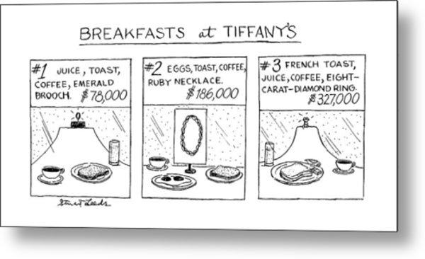 Breakfast At Tiffany's Metal Print