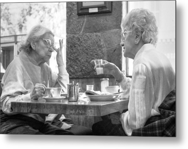 Breakfast Ladies Metal Print