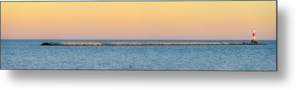 Breaking The Sunset Metal Print