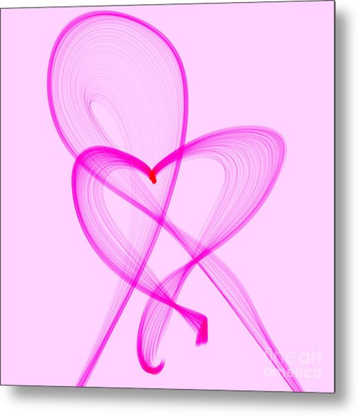 Breast Cancer Awareness . Love Metal Print
