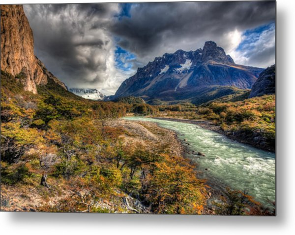 Breath Of Cold Metal Print by Roman St