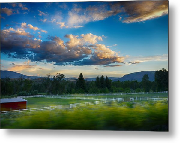 Breathtaking Colorado Sunset 1 Metal Print