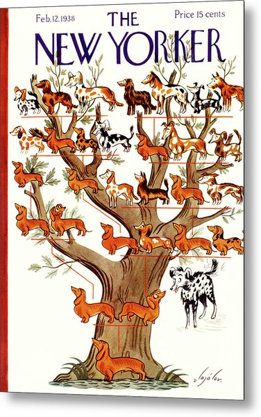 Breeds Tree Metal Print