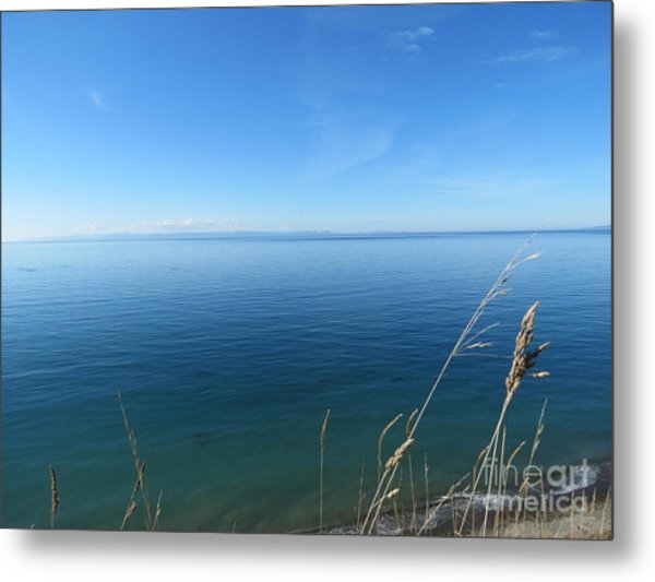 Breeze In Blue Metal Print