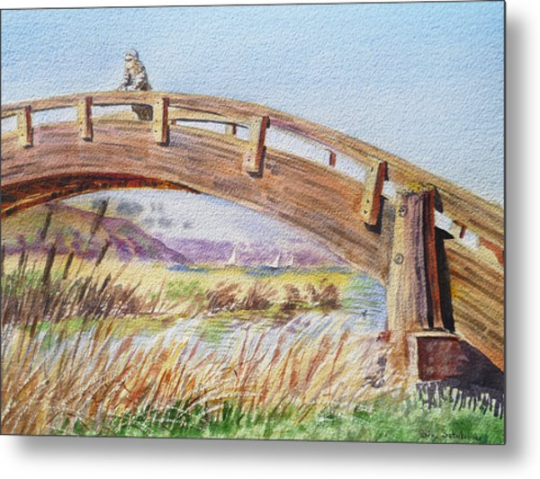 Breezy Day At The Marina Metal Print