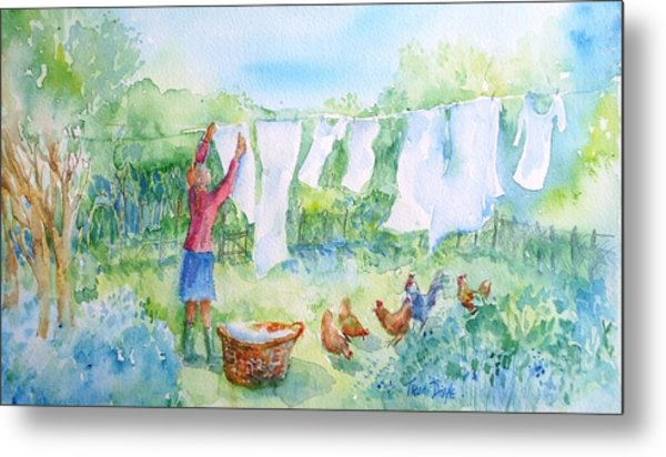 Breezy Day  -great Drying Out Metal Print