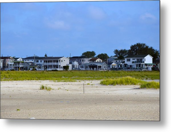 Breezy Point As Seen From Beach August 2012 Metal Print