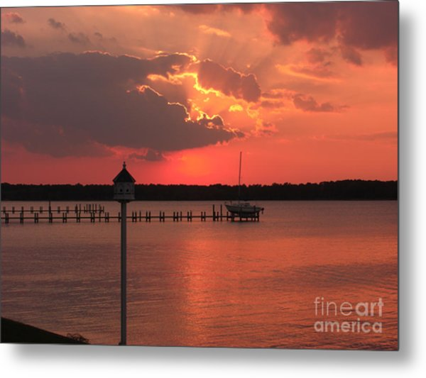 Breton Bay Sunset Metal Print