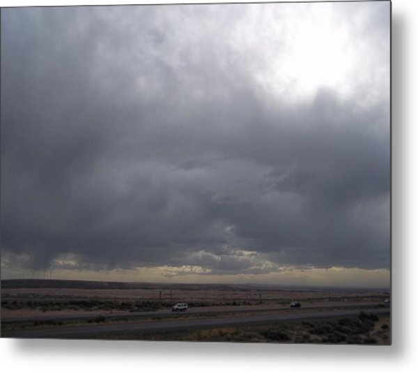 Brewing Storm Metal Print by Angela Stout