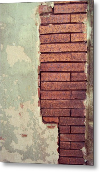 Brick Wall Metal Print by Cynthia Harvey