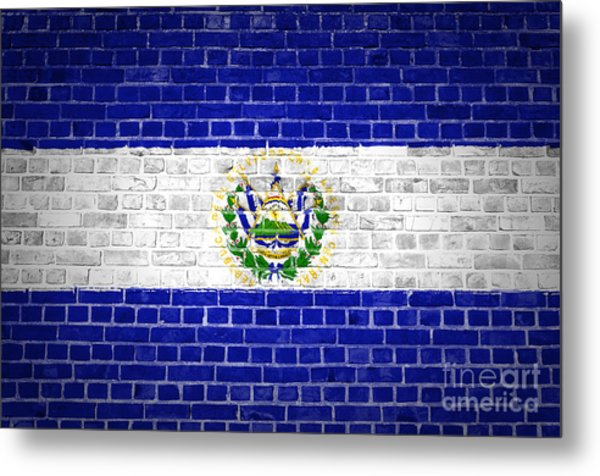 Brick Wall El Salvador Metal Print