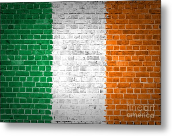 Brick Wall Ireland Metal Print