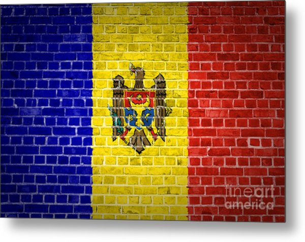 Brick Wall Moldova Metal Print