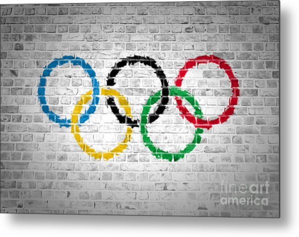 Brick Wall Olympic Movement Metal Print