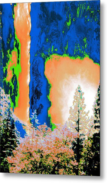 Bridalveil Fall Abstract Metal Print