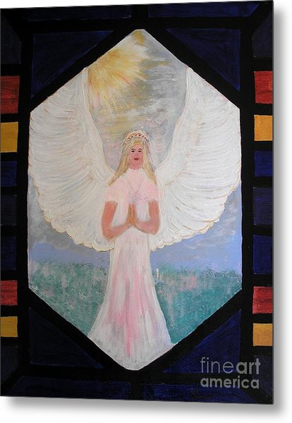 Angel In Prayer  Metal Print