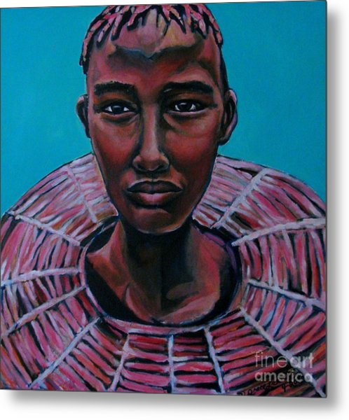 Bride - Portrait African Metal Print
