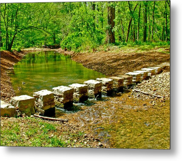Bridge Across Colbert Creek At Mile 330 Of Natchez Trace Parkway-alabama Metal Print