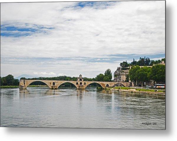 Bridge At Avignon Metal Print