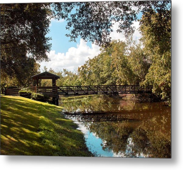 Bridge At Sawgrass Park Metal Print