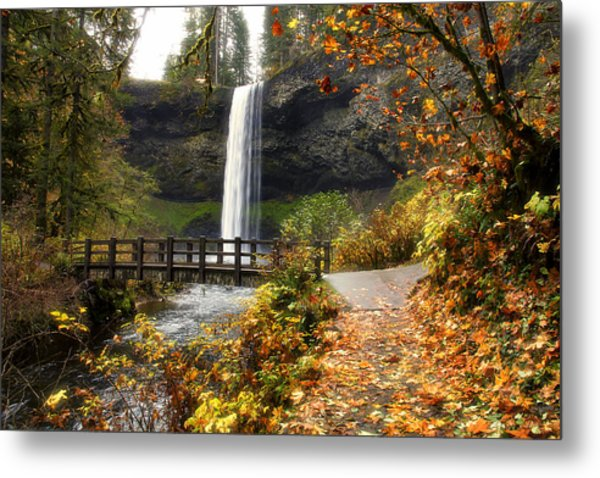 Bridge At South Falls Metal Print