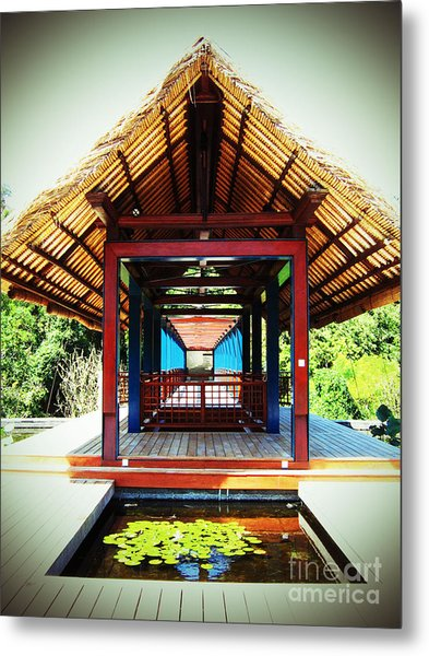 Bridge At Ubud Metal Print
