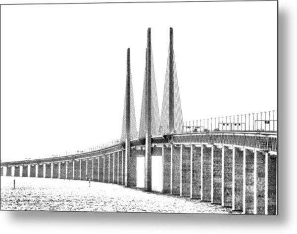 Bridge Connecting The Countries Metal Print by Kim Lessel