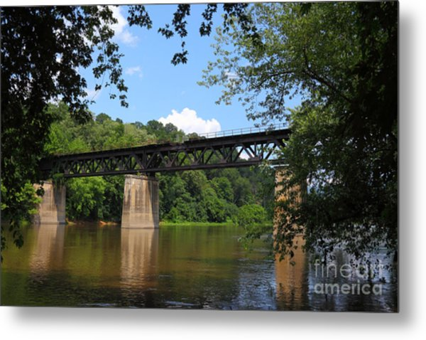Bridge Crossing The Potomac River Metal Print