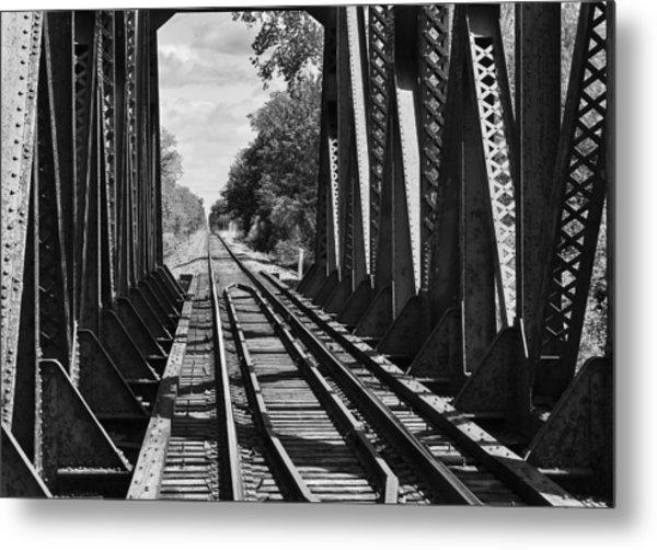 Bridge In Black And White Metal Print