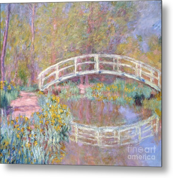 Bridge In Monet's Garden Metal Print