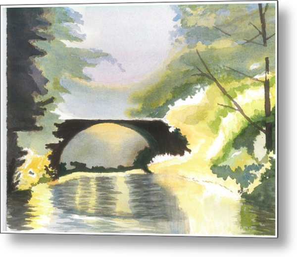 Bridge In Shadows Metal Print