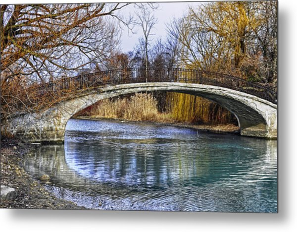 Bridge In The December Sun Metal Print