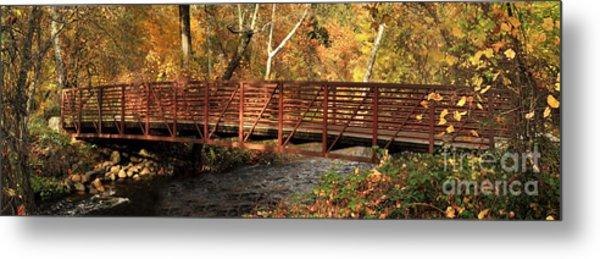 Bridge On Big Chico Creek Metal Print