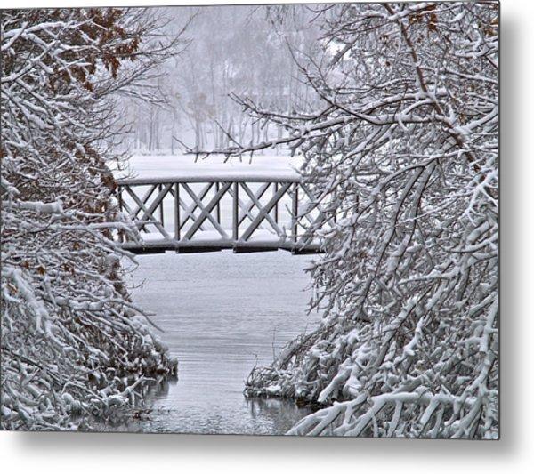 Bridge Over Clear Water Metal Print
