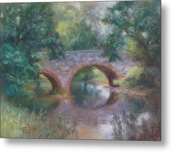 Bridge Over Cocalico Creek Metal Print