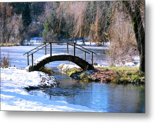 Metal Print featuring the photograph Bridge Over Ice N Snow by William Havle