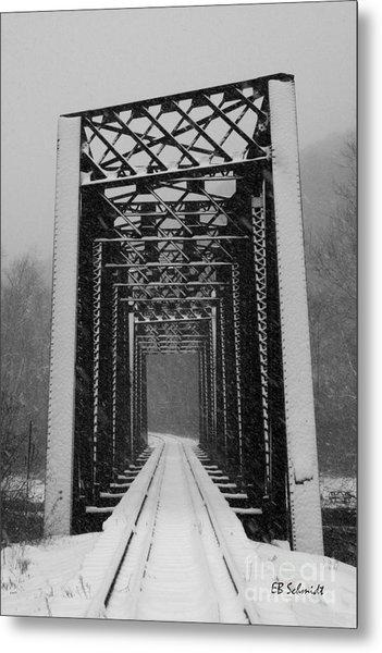Bridge Over Oil Creek Metal Print