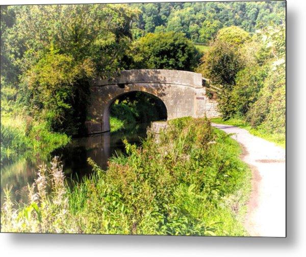 Bridge Over Still Waters Metal Print