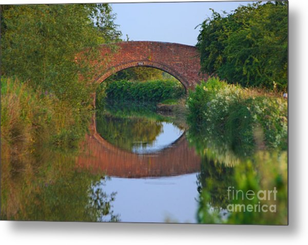 Bridge Over The Canal Metal Print