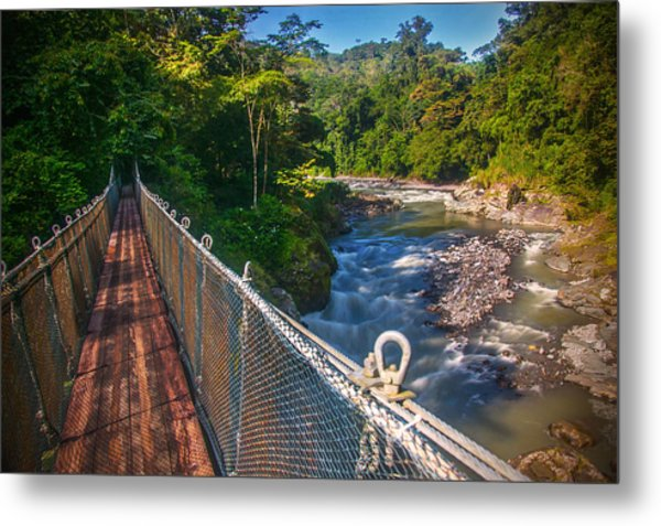 Bridge Over The Pacuare Metal Print