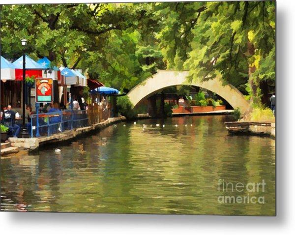 Bridge Over The Riverwalk Metal Print