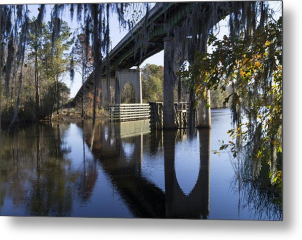 Bridge Over The Waccamaw On An Autumn Afternoon Metal Print