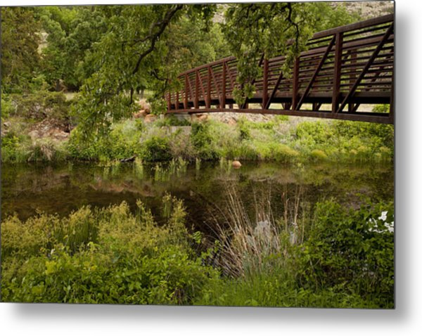 Bridge Over Wetlands Metal Print