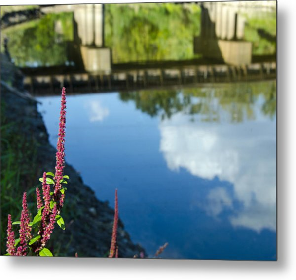 Bridge Reflection Metal Print by Shane McCallister